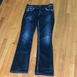 "Silver Jeans Suki 17"" w32/L33"